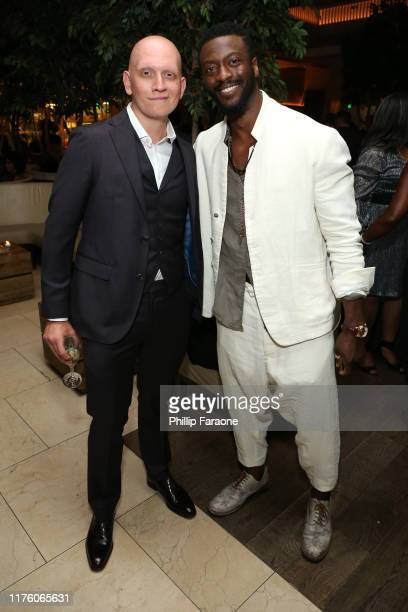 Anthony Carrigan and Aldis Hodge attend The Hollywood Reporter SAGAFTRA 3rd annual Emmy Nominees Night presented by Heineken and Anastasia Beverly...