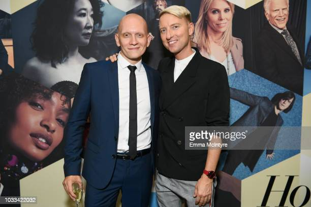 Anthony Carrigan and Chris Gardner attend The Hollywood Reporter SAGAFTRA 2nd annual Emmy Nominees Night presented by Douglas Elliman and Heineken at...
