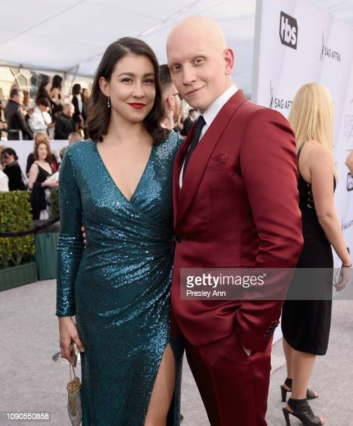 Anthony Carrigan and Gia Olimp attend the 25th Annual Screen ActorsGuild Awards at The Shrine Auditorium on January 27 2019 in Los Angeles California