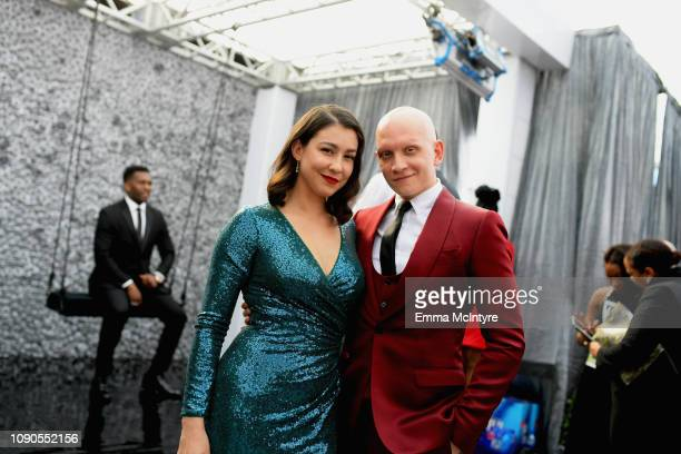Anthony Carrigan and Gia Olimp attend the 25th Annual Screen ActorsGuild Awards at The Shrine Auditorium on January 27 2019 in Los Angeles...