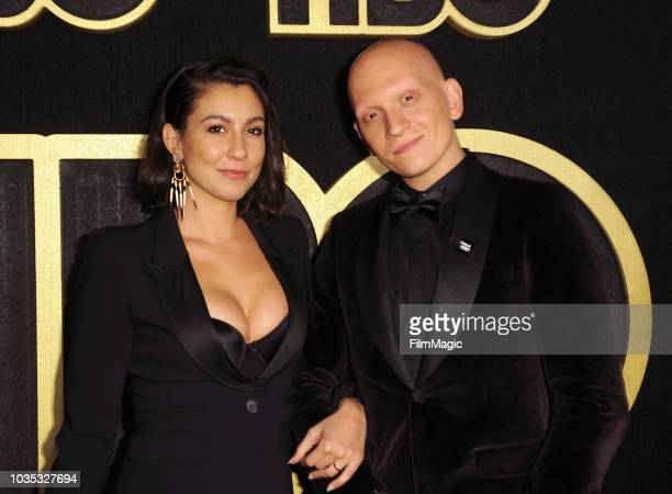Anthony Carrigan and guest arrive at HBO's Official 2018 Emmy After Party on September 17 2018 in Los Angeles California