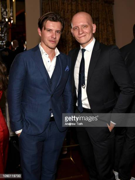 Anthony Carrigan and guest attend Entertainment Weekly Celebrates Screen Actors Guild Award Nominees sponsored by L'Oreal Paris Cadillac And...
