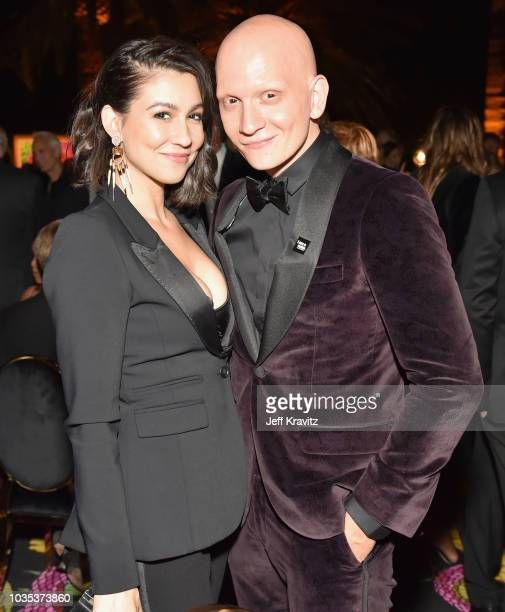 Anthony Carrigan and guest attend HBO's Official 2018 Emmy After Party on September 17 2018 in Los Angeles California