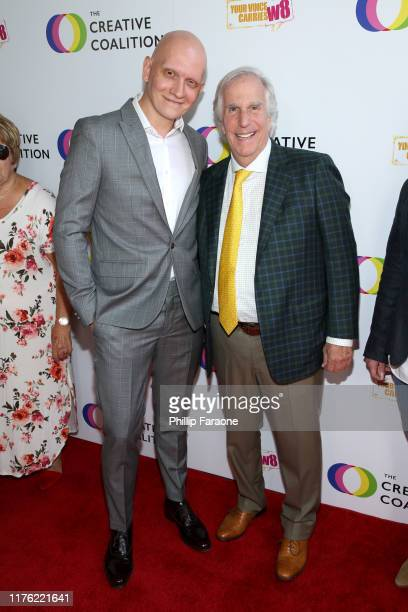 Anthony Carrigan and Henry Winkler attend the Creative Coalition's Annual Television Humanitarian Awards Gala 2019 at Ocean Prime on September 21...
