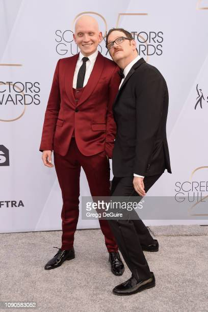 Anthony Carrigan and John Pirruccello attend the 25th Annual Screen ActorsGuild Awards at The Shrine Auditorium on January 27 2019 in Los Angeles...