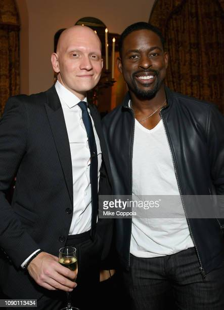 Anthony Carrigan and Sterling K Brown attend Entertainment Weekly Celebrates Screen Actors Guild Award Nominees sponsored by L'Oreal Paris Cadillac...