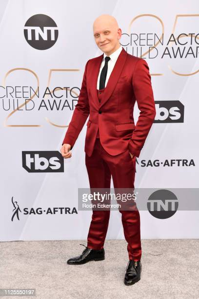 Anthony Carrigan arrives at the 25th Annual Screen ActorsGuild Awards at The Shrine Auditorium on January 27 2019 in Los Angeles California