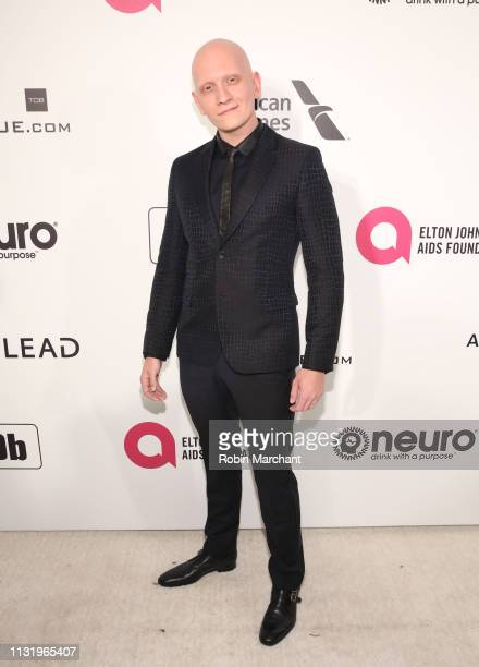 Anthony Carrigan attends 27th Annual Elton John AIDS Foundation Academy Awards Viewing Party Celebrating EJAF And The 91st Academy Awards on February...