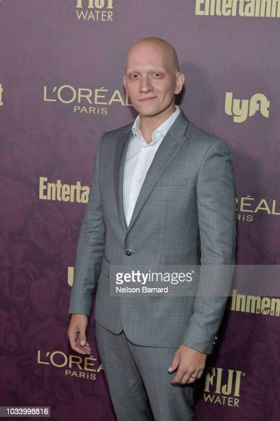 Anthony Carrigan attends the 2018 PreEmmy Party hosted by Entertainment Weekly and L'Oreal Paris at Sunset Tower on September 15 2018 in Los Angeles...