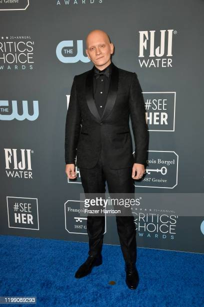 Anthony Carrigan attends the 25th Annual Critics' Choice Awards at Barker Hangar on January 12 2020 in Santa Monica California