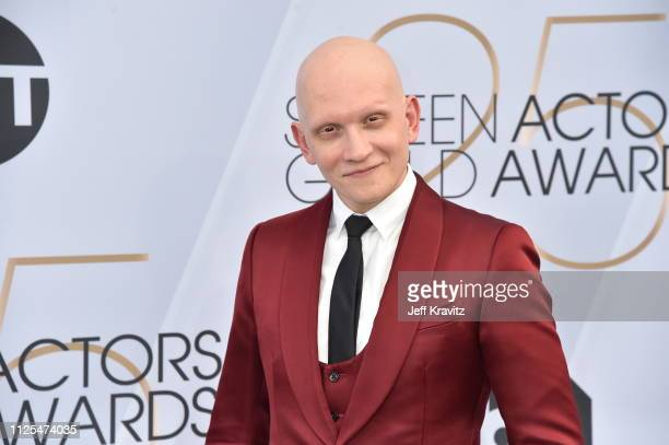 Anthony Carrigan attends the 25th Annual Screen ActorsGuild Awards at The Shrine Auditorium on January 27 2019 in Los Angeles California