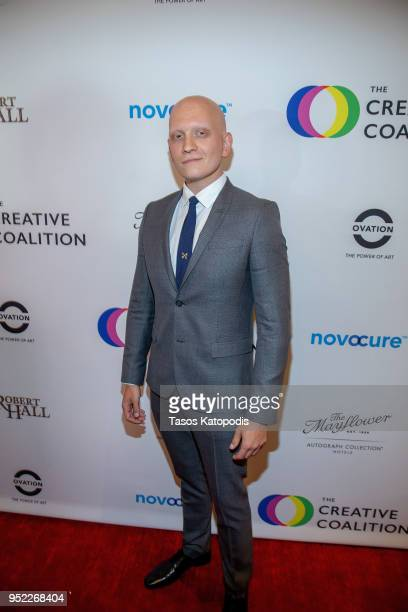 Anthony Carrigan attends the Creative Coalition's 'Right To Bear Arts' Gala Fundraiser on April 27 2018 in Washington DC