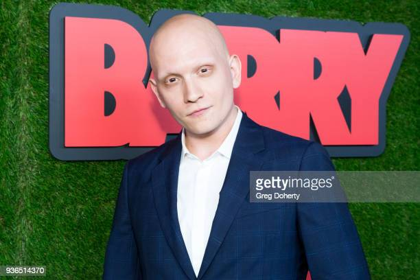 Anthony Carrigan attends the Los Angeles premiere of HBO's 'Barry' at NeueHouse Los Angeles on March 21 2018 in Hollywood California