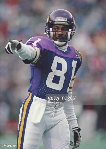 Anthony Carter Wide Receiver for the Minnesota Vikings during the National Football Conference East game against the Philadelphia Eagles on 19...