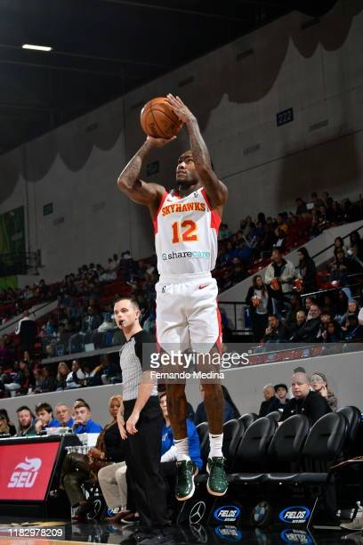 Anthony Cat Barber of the College Park Skyhawks shoots against the Lakeland Magic during the game on November 15 2019 at RP Funding Center in...