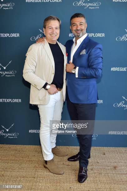 Anthony Cenname and Ahmad Shahriar attend Breguet Marine Collection Launch at Little Beach House Malibu on July 11 2019 in Malibu California