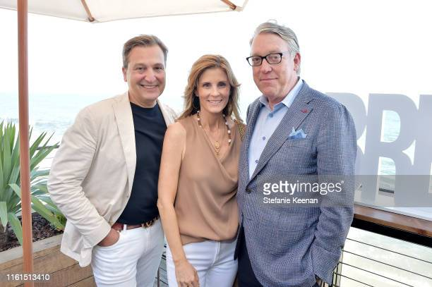 Anthony Cenname Carrie Riess and Rick Riess attend Breguet Marine Collection Launch at Little Beach House Malibu on July 11 2019 in Malibu California