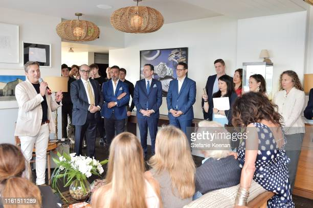 Anthony Cenname speaks at Breguet Marine Collection Launch at Little Beach House Malibu on July 11 2019 in Malibu California