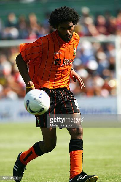 Anthony Charles of Barnet during the preseason friendly match between Barnet FC and Arsenal at Underhill Stadium on July 16 2005 in Barnet London