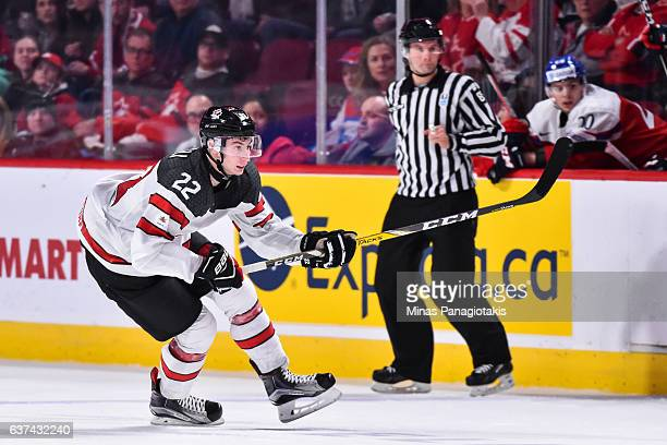 Anthony Cirelli of Team Canada skates during the 2017 IIHF World Junior Championship quarterfinal game against Team Czech Republic at the Bell Centre...