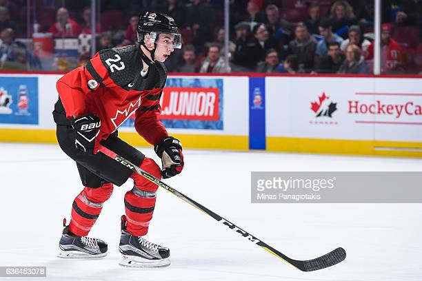 Anthony Cirelli of Team Canada skates during the IIHF exhibition game at the Bell Centre on December 19 2016 in Montreal Quebec Canada Team Canada...