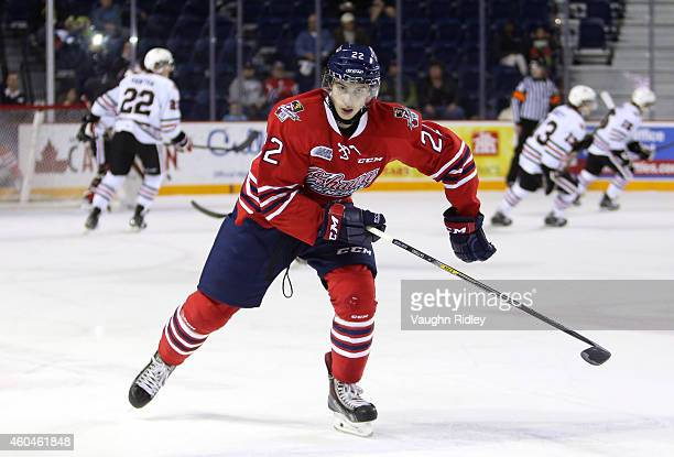 Anthony Cirelli of the Oshawa Generals skates during an OHL game between the Oshawa Generals and the Niagara IceDogs at the Meridian Centre on...