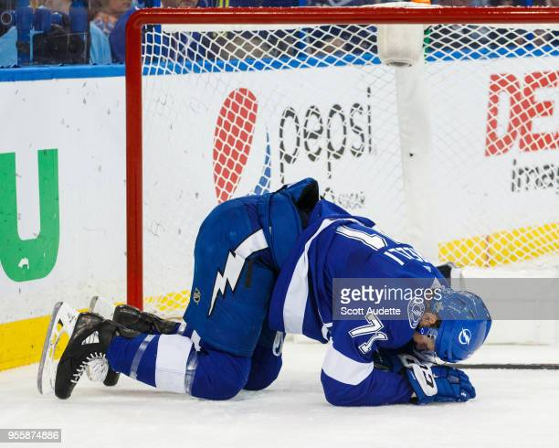 Anthony Cirelli of the Tampa Bay Lightning against the Boston Bruins during Game Five of the Eastern Conference Second Round during the 2018 NHL...