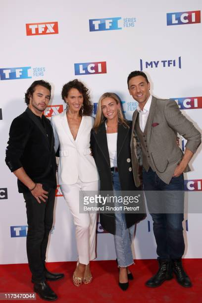 Anthony Colette Linda Hardy Ines Vandamme and Maxime Dereymez attend the Groupe TF1 Photocall at Palais de Tokyo on September 09 2019 in Paris France