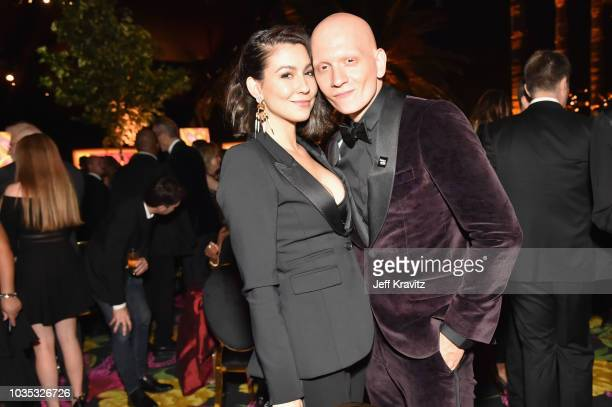 Anthony Corrigan and guest attend HBO's Official 2018 Emmy After Party on September 17 2018 in Los Angeles California