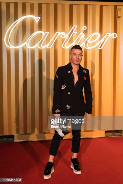 Anthony Cosmo Callea attends the Cartier Precious Garage Party on November 29 2018 in Sydney Australia