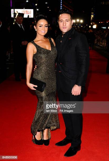Anthony Costa and guest arriving for the premiere of Gambit at the Empire Leicester Square London