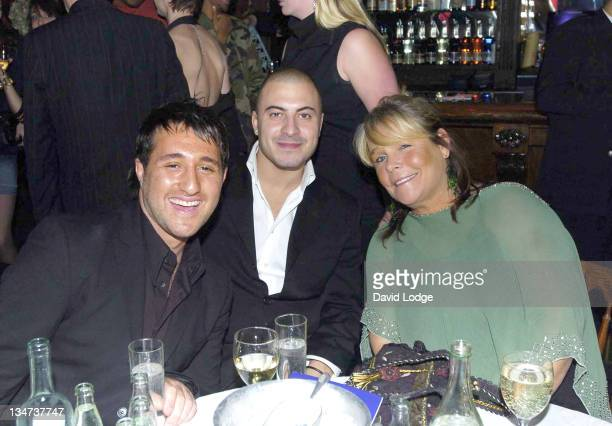 Anthony Costa and Linda Robson during 'Give It Up' Concert Showcasing New British R B Talent at Cafe de Paris in London Great Britain