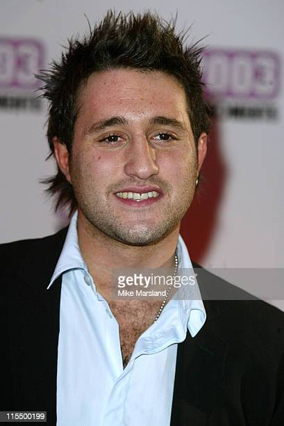 Anthony Costa of Blue during The Best of 2003 TV Moments Arrivals at BBC Television Centre in London Great Britain