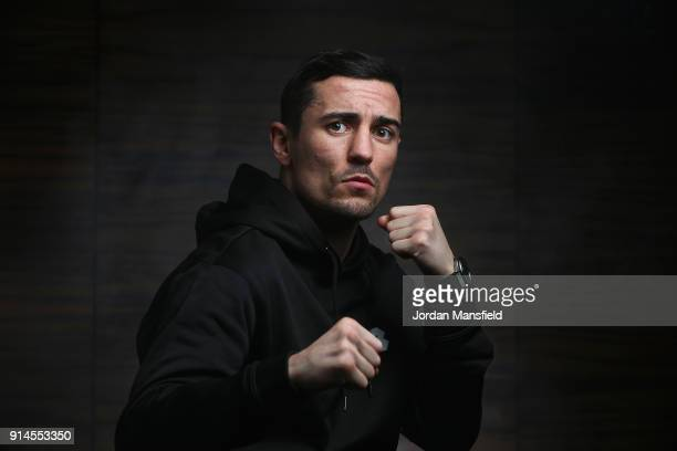 Anthony Crolla professional boxer poses for a portrait following the Ultimate Boxxer Launch at the ME London Hotel on February 5 2018 in London...