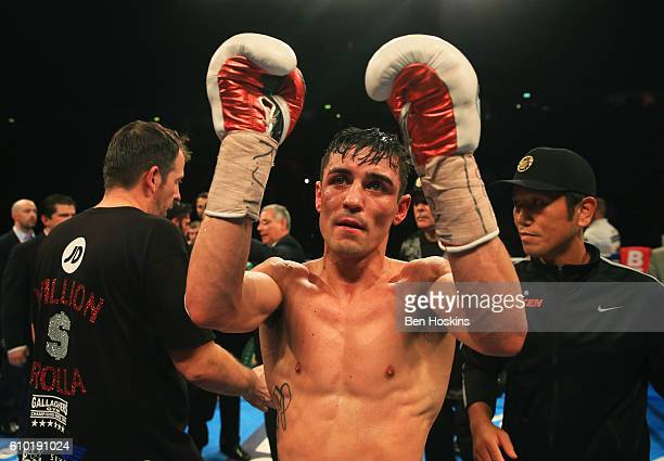 Anthony Crolla salutes the crowd after defeat to Jorge Linares in their contest for WBA WBC Diamond and Ring Magazine Lightweight World Titlesat...