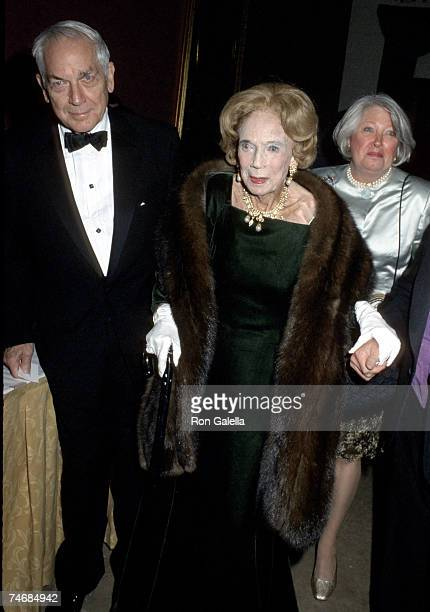 Anthony D Marshall with his mother Brooke Astor and his wife Charlene Marshall at the Plaza Hotel in New York City New York