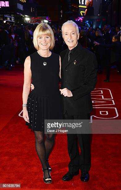 Anthony Daniels and Christine Savage attend the European Premiere of 'Star Wars The Force Awakens' at Leicester Square on December 16 2015 in London...