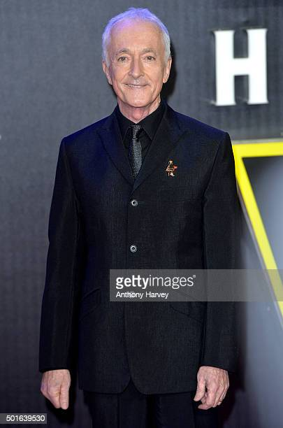 Anthony Daniels attends the European Premiere of 'Star Wars The Force Awakens' at Leicester Square on December 16 2015 in London England