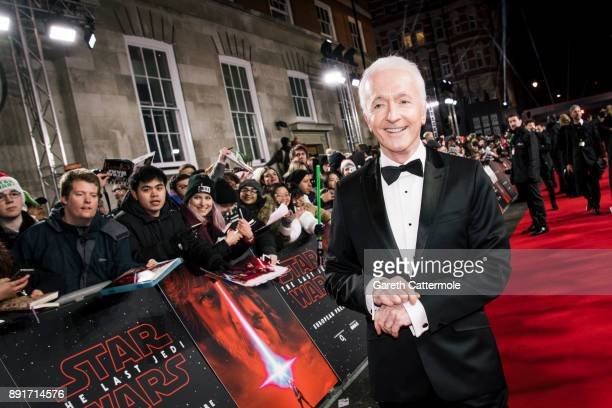 Anthony Daniels attends the European Premiere of Star Wars The Last Jedi at the Royal Albert Hall on December 12 2017 in London England