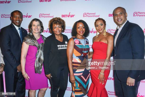 Anthony Daniels Dawn Laguens Dr Joia CrearPerry Tracy Reese Letoya Luckett and Cory Booker pose at the 6th Annual Planned Parenthood Champions of...