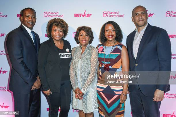 Anthony Daniels Dr Joia CrearPerry Maxine Waters Tracy Reese and Cory Booker pose at the 6th Annual Planned Parenthood Champions of Women's Health...