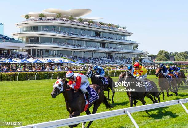 Anthony Darmanin riding Mystic Journey wins Race 8 Australian Guineas during Melbourne Racing at Flemington Racecourse on March 02 2019 in Melbourne...