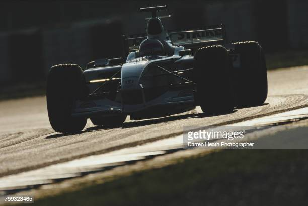 Anthony Davidson of Great Britain drives the Lucky Strike BAR Honda BAR 004 Honda RA002E V10 during Formula One pre season testing on 10 January 2002...