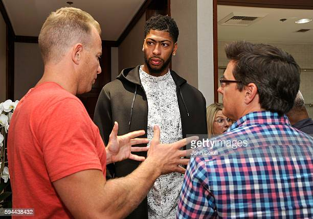 Anthony Davis and guests attend Saks Fifth Avenue Beverly Hills launch of the exclusive Saks Fifth Avenue x Anthony Davis Collection at Saks Fifth...