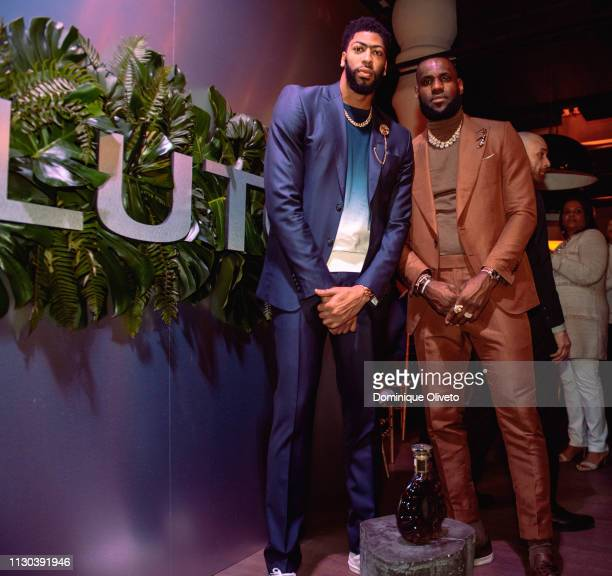Anthony Davis and LeBron James attend the Klutch 2019 All Star Weekend Dinner Presented by Remy Martin and hosted by Klutch Sports Group at 5Church...