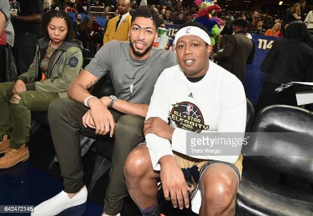 Anthony Davis and Master P attend the 2017 NBA AllStar Celebrity Game at MercedesBenz Superdome on February 17 2017 in New Orleans Louisiana