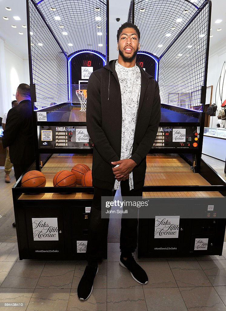 Saks Fifth Avenue Beverly Hills Hosts Anthony Davis For The Launch Of The Exclusive Saks Fifth Avenue x Anthony Davis Collection