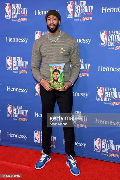 Anthony Davis attends the NBA AllStar Celebrity Game 2020 Presented By Ruffles at Wintrust Arena on February 14 2020 in Chicago Illinois