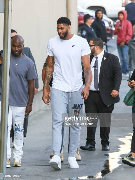 Anthony Davis is seen arriving at 'Jimmy Kimmel Live' on July 30 2019 in Los Angeles California