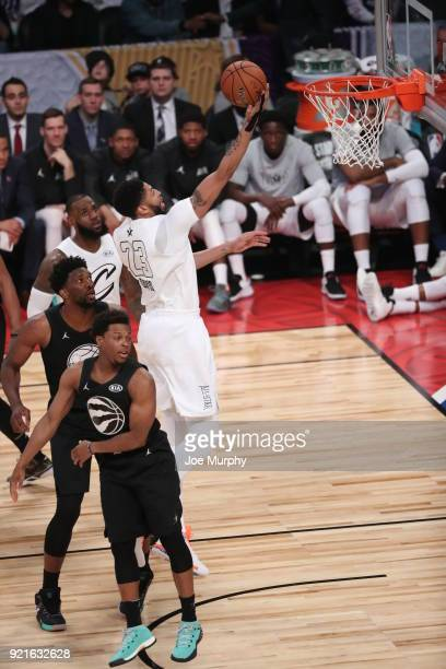 Anthony Davis of team LeBron dunks the ball during the NBA AllStar Game as a part of 2018 NBA AllStar Weekend at STAPLES Center on February 18 2018...